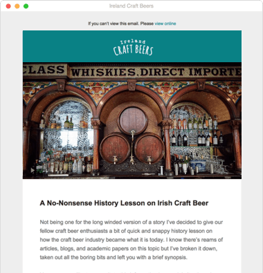 Ireland Craft Beers Newsletter